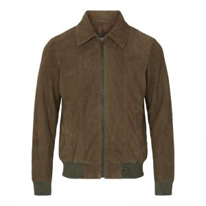 Mens brown jacket leather style costume