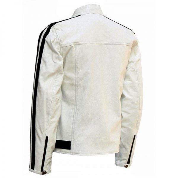 White leather jacket for men outfits