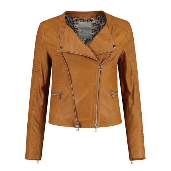 Yellow leather costume for women