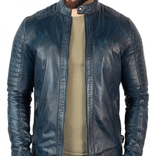 New genuine biker style leather Jacket Costume