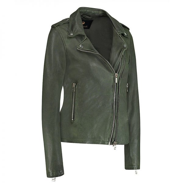 Leather style jacket in green color Costume