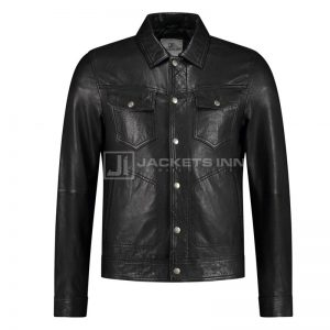 Pure leather classic men's Jacket