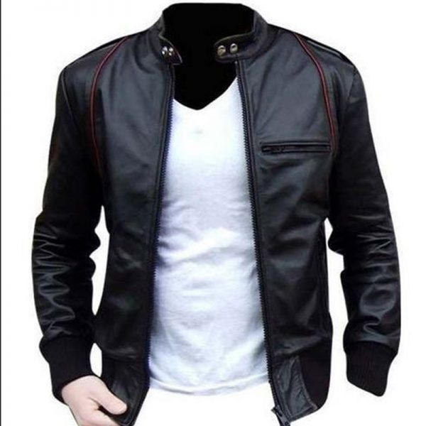 Stylish leather outfit mens