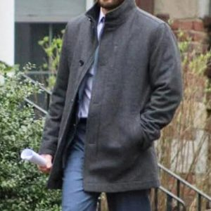 chris evans grey coat costume
