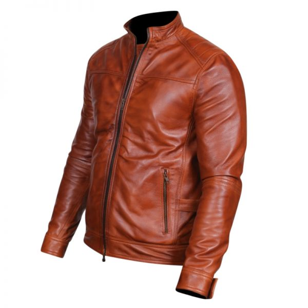 genuine leather biker style outfit