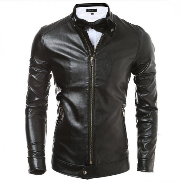 new men leather outfit in brown