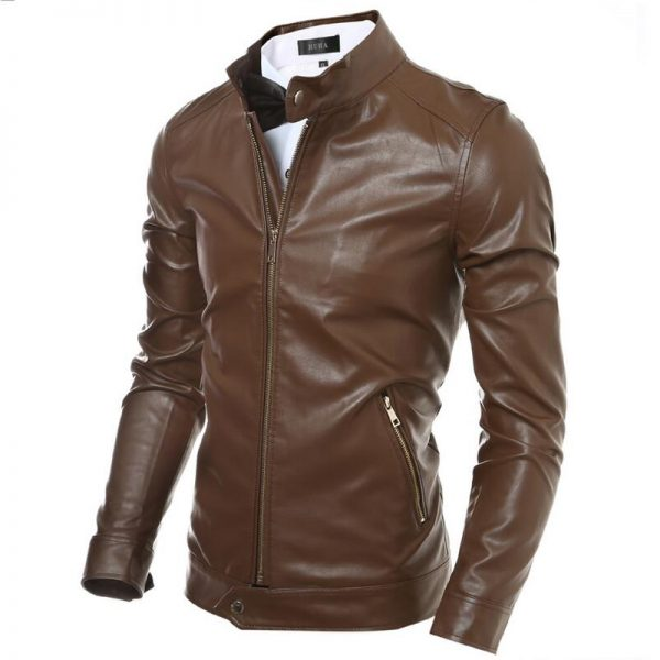 leather jacket brown style outfit
