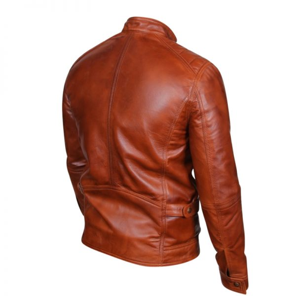 Genuine leather biker style apparel