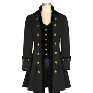 Halloween Burberry Regimental Jacket with Military Piping
