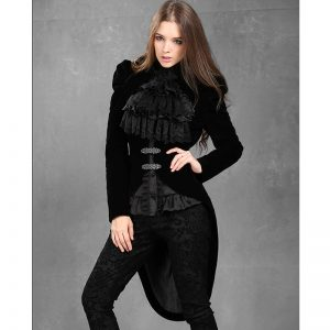 Halloween Stylish Dark Velvet Tailcoat Jacket