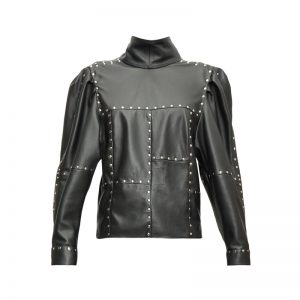 Halloween Studded Veneza leather jacket