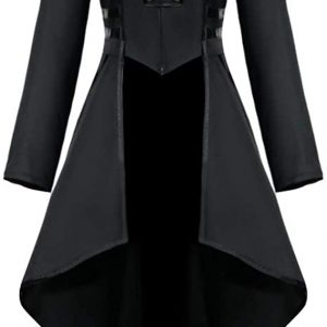 Halloween Costume Black Tailcoat For Women