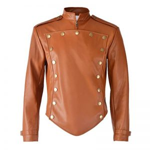 Halloween genuine leather jacket mens