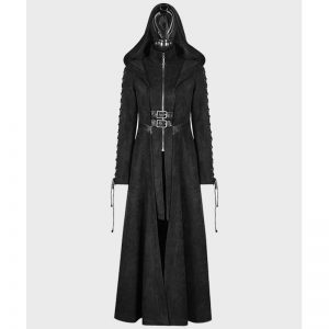 Halloween Angel Sty leather black coat for women