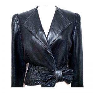 Halloween Stunning Black Lapeled Design Jacket For Women