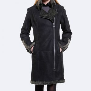 Halloween Shearling Coat in Black Color