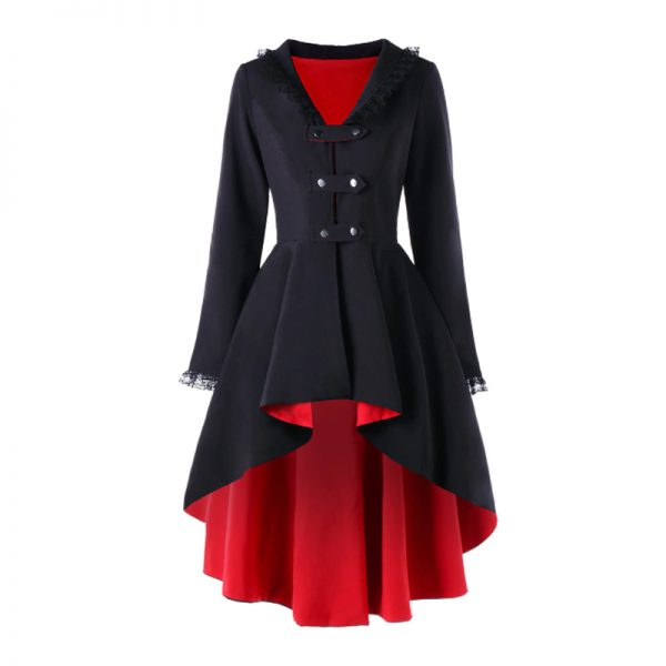 Amazing Black Polyester Fabric Design Coat For Women