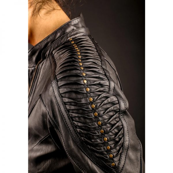 Soft cut leather fabric jacket for women In Demand