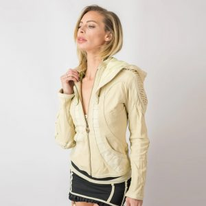Soft Cut Leather Jacket For Womens