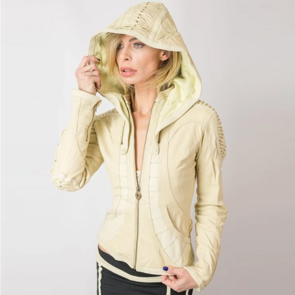 Halloween White Leather Jacket For Womens