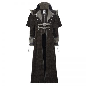 Mens Long Gothic Halloween Coat