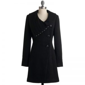 Luxury Velvet Exotic Black Coat For Womens