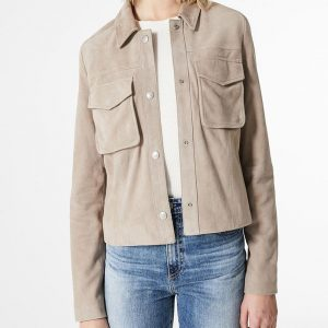 Amazing Casual Grey Soft Comfort Cotton Fabric Jacket For Women's
