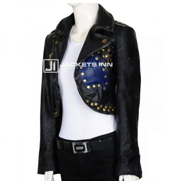 Magnificent Black Stylish Slim Fit Leather Jacket For Womens