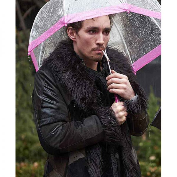 Black Shearling Coat In Hollywood Movie