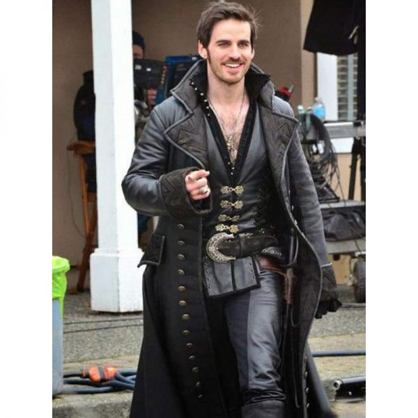 Halloween Hook Costume Leather Coat
