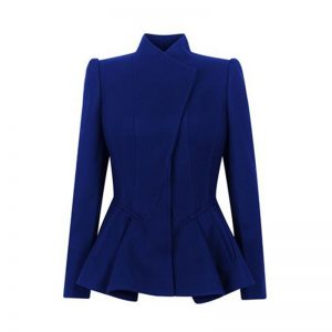 Halloween Military Design Blue Elegant Polyester Blazer