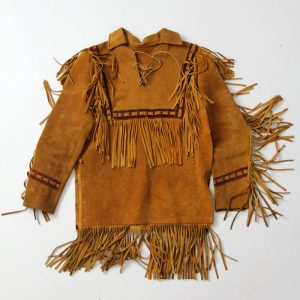 Fringe Design Brown Vintage Jacket