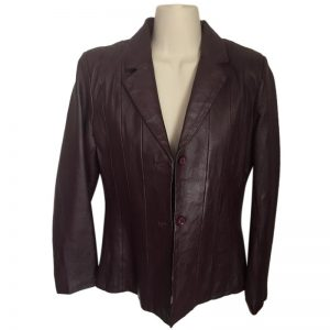 Halloween burgundy leather jacket men's