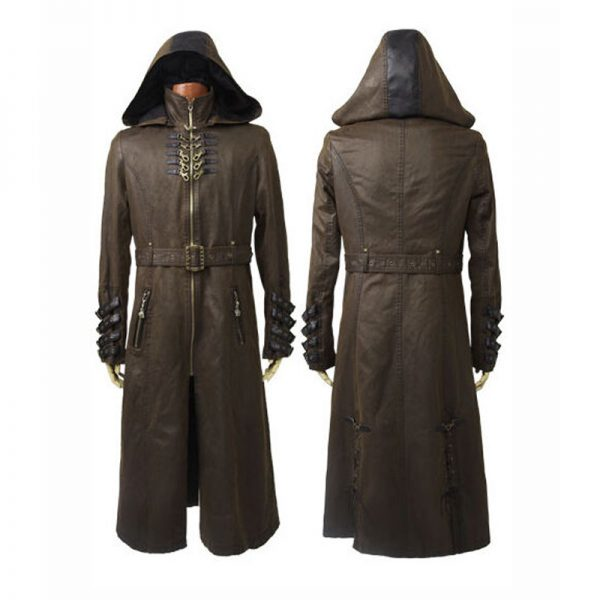 Cotton Long Coat Military Gothic Style