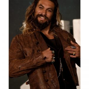 Famous Actor Jason Momoa Brown Leather Jacket In Hollywood Movie Aquaman