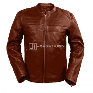 Honorable Exclusive Brown Tan Classy Leather Jacket For Men`s