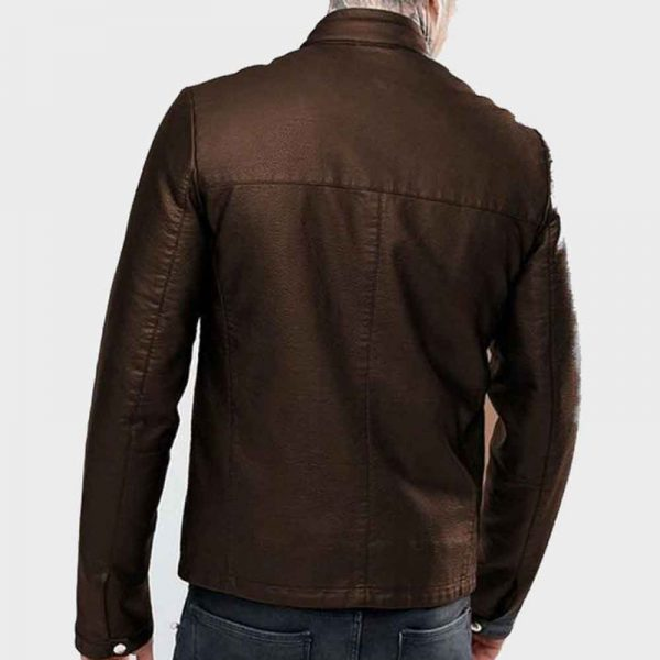 Magnificent Casual Hickory Brown Perfect Leather Jacket For Men