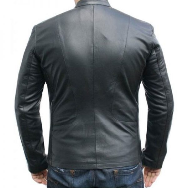 Nice Looking Classy Ionic Black Leather Jacket For Men