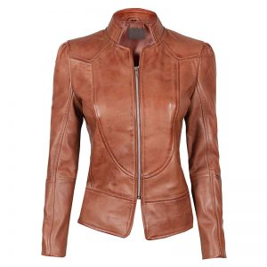 Amy_Womens_Brown_Fitted_Leather_Jacket_1