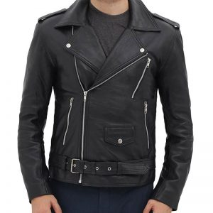 Black_Asymmetrical_Slim_Fitted_RIDER_BELTED_Leather_Jacket