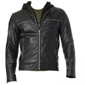 GUESS_Men's_Faux_Leather_Hooded_Moto_Jacket