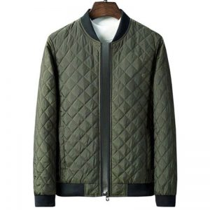 Mens-Diamond-Quilted-MA-1-Bomber-Jacket-Green