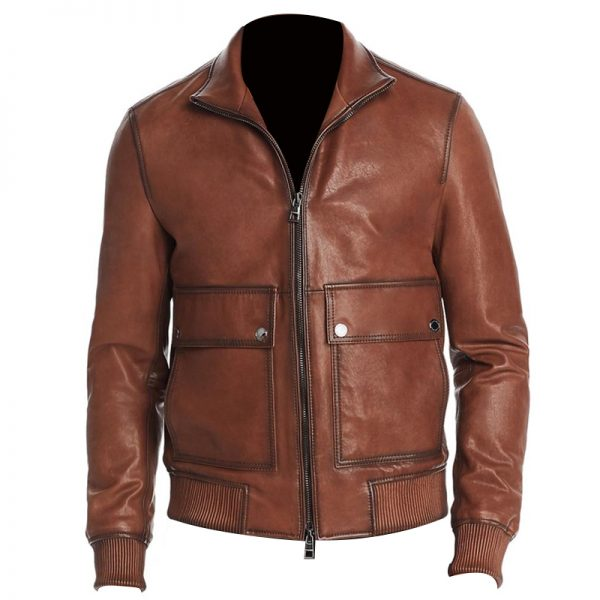 Michael_Kors_Mens_Lamb_Leather_Cold_Weather_Bomber_Jacket_Brown_M