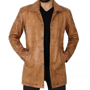 Winchester_Mens_Brown_Leather_Car_Coat