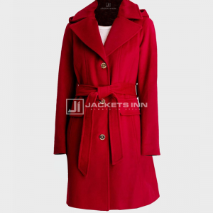 Womens_Red_Belted_Hooded_Coat
